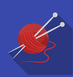 knittingold age single icon in flat style vector image