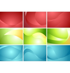 Set of abstract wavy backgrounds vector image