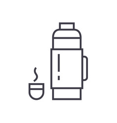 thermos sign line icon sign vector image