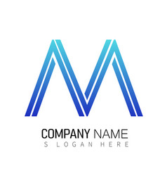 Abstract modern m letter logo design vector