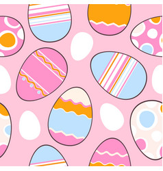 Adorable easter eggs vector
