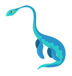 Aquatic dinosaur icon cartoon style vector