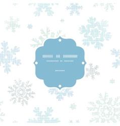 blue christmas snowflakes textile texture frame vector image