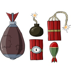bomb symbol vector image vector image