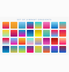 Bright vibrant set gradients background vector
