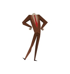 Businessman with no head vector image vector image