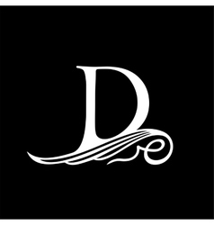 Capital Letter D for Monograms Emblems and Logos vector image
