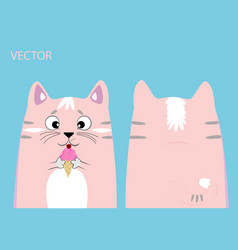 cat with ice cream vector image