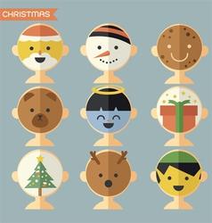 Christmas face vector
