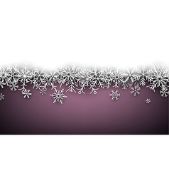 Christmas purple abstract background vector image