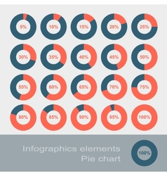 Circle Diagram Pie Infographic Elements vector image