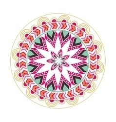 colorful mandala icon vector image