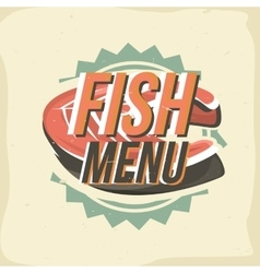 Creative logo design with salmon steak vector