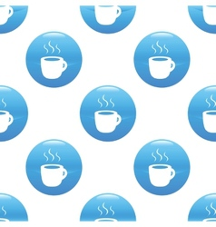 Cup sign pattern vector image