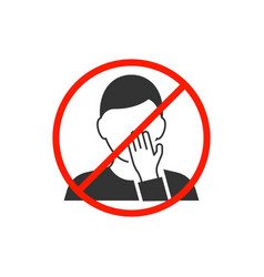 do not touch your face man avatar icon vector image