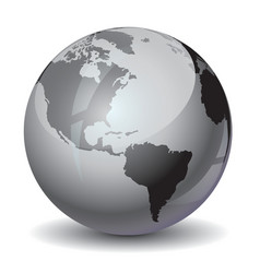 Earth grayscale vector