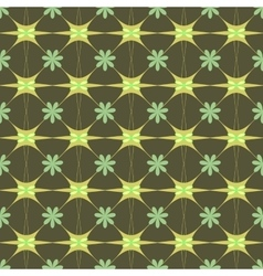 Flower green pastel seamless pattern vector