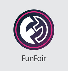 Funfair virtual currency coin pictogram of vector