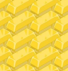 Gold bullion seamless pattern Golden ingot of vector