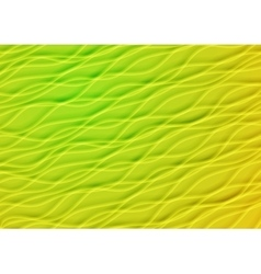 Green and yellow summer waves background vector