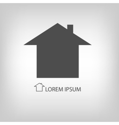 Grey house symbol vector image