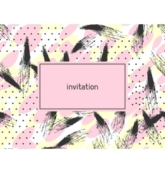 Hand drawn abstract grunge invitation card vector