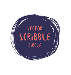 hand drawn scribble colorful circle vector image