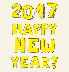 Happy New Year 2017 card vector image