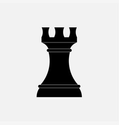 icon strategy chess figure black round vector image