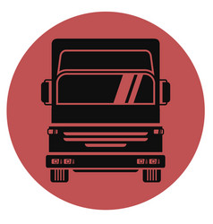 icon truck vector image