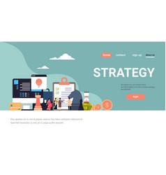Indian businesspeople brainstorming business vector