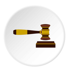 Judges gavel icon circle vector