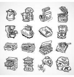 Kitchen equipment sketch vector image