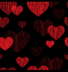 love heart seamless pattern happy valentines day vector image