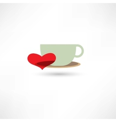 love hot drinks vector image