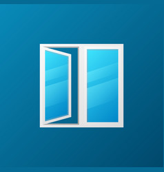 modern window with blue glass icon vector image