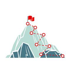 Mountain climb path business success concept vector