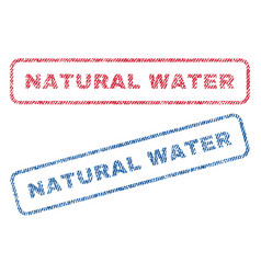natural water textile stamps vector image