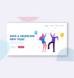 new year corporate party website landing page vector image