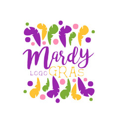 original logo or label design template for mardi vector image