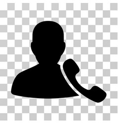 Phone support icon vector