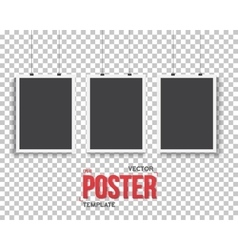 Poster Mockup Set Realistic EPS10 vector