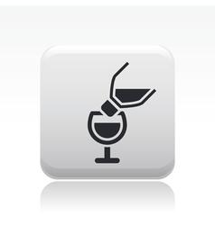 Pour wine icon vector