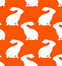 Rabbit Patterned Wallpaper vector