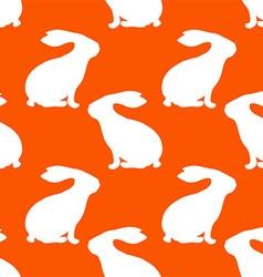 Rabbit patterned wallpaper vector