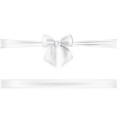 realistic bow and ribbon isolated on transparent vector image