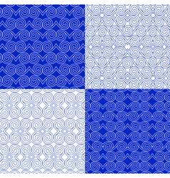 Set eastern ethnic geometric patterns vector