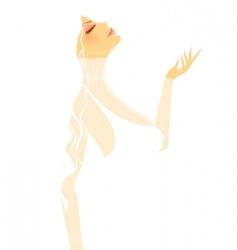 silhouette women vector image