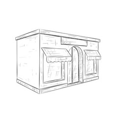store front hand drawn sketch vector image