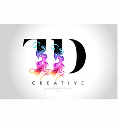 Td vibrant creative leter logo design with vector